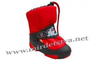 Сапоги зимние для мальчика Demar Snowmen A 4010 красные