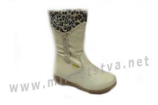 Сапоги для девочки Milania ET-507-27 бежевые