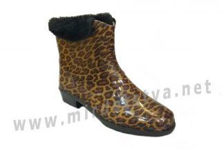 Резиновые сапоги AlisaLine A203 Леопард мелкий