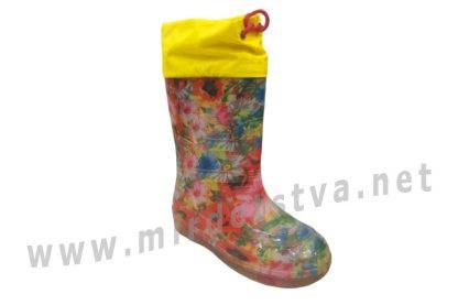 Резиновые сапоги для девочки AlisaLine A301 Поляна