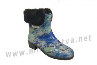 Резиновые сапоги AlisaLine A203 Цветы синие