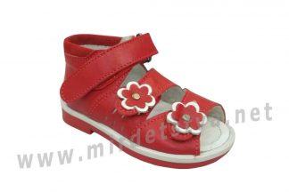 Ортопедические босоножки для девочки Tops Ш-3 красные
