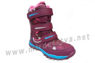 Ботинки для девочки SuperGear термо B 263