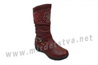 Сапоги для девочки Milania ET-507-27 бордо