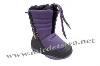 Сапоги зимние детские Demar Teddy A 4032 фиолетовые