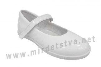 Туфли для девочки белые лаковые Tops Д525