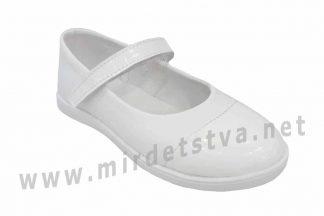 Туфли для девочки белые Tops Д527