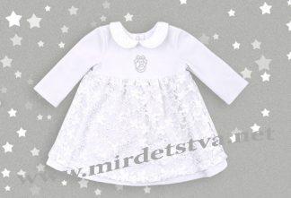 Белое крестильное платье для девочки Бемби ПЛ190