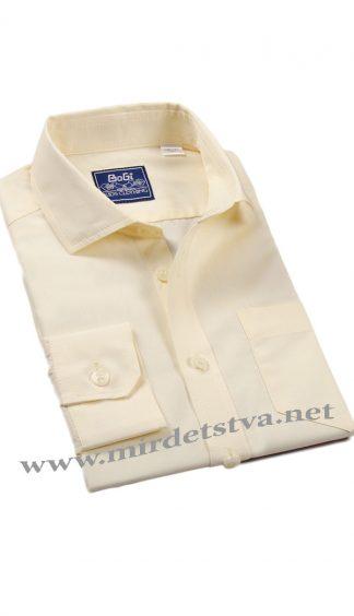 Классическая рубашка BoGi 001.001.0252.41 лимонного цвета