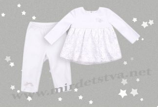 Крестильный костюм для девочки Бемби КС528