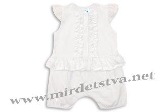 Крестильный полукомбинезон для девочки Minikin 174402