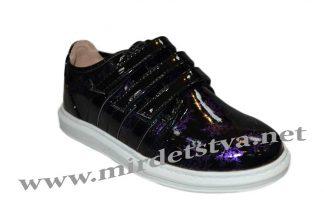 Кроссовки для девочки М+Д 6955-Е черно-фиолетового цвета
