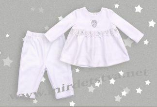 Набор для крещения малыша Бемби КС525 белого цвета