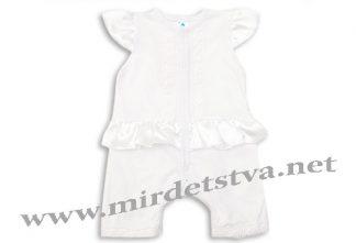 Полукомбинезон крестильный для девочки Minikin 173002