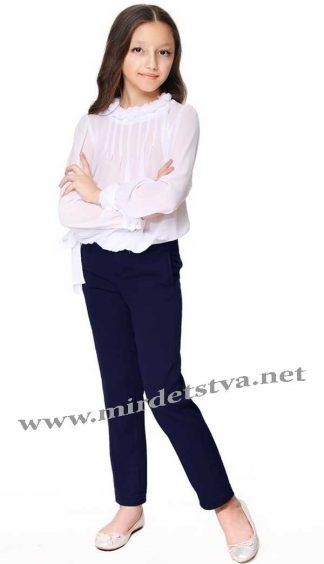 Школьные брюки на девочку Lukas 5222 синие