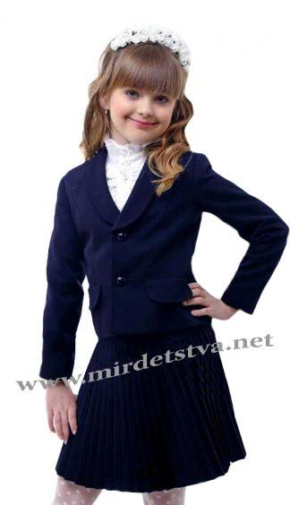 Школьный жакет на девочку Lukas 3201 синего цвета