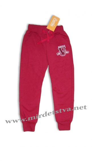 Трикотажные штаны на девочку Бемби ШР412 малиновые