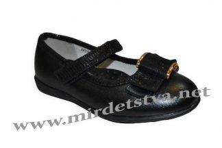 Туфли черные для девочки B&G KK216-515