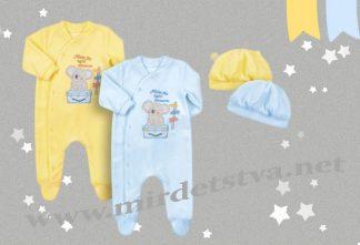 Велюровый комплект для малыша Бемби КП172
