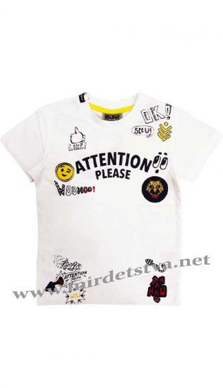 Белая футболка для мальчика Cegisa 5977 с коротким рукавом.