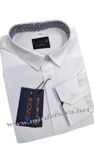 Белая рубашка для мальчика INGVAR арт.616/1515 slim fit