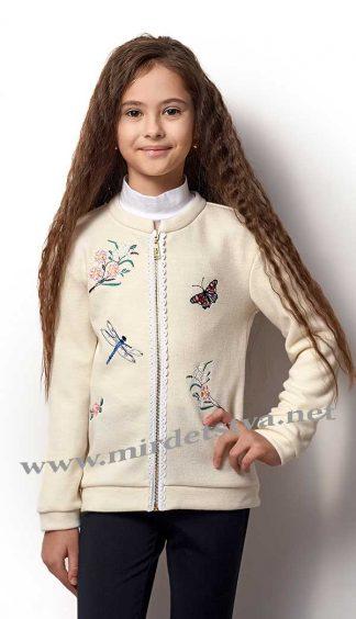 Кофта для девочки Mevis 2300-01 молочного цвета