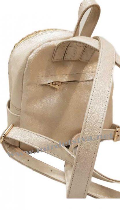 Бежевый рюкзак с пайетками Tops