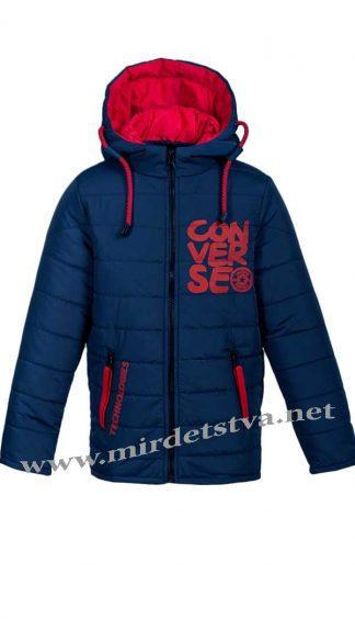 Куртка деми для мальчика Kidzo арт25 темно-синего цвета
