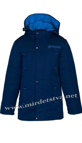 Куртка для мальчика Kidzo 004 синего цвета с капюшоном