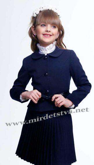 Плиссированная юбка для девочек Lukas 2211 синего цвета