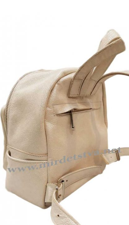 Кожаный рюкзак Tops бежевый кристалл