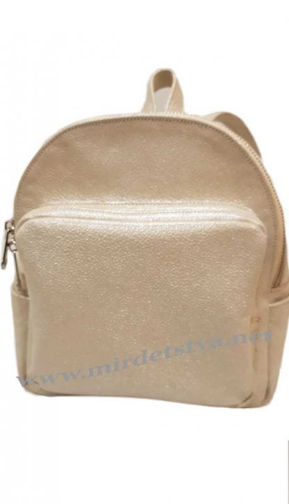 Рюкзак кожа Tops бежевый кристалл