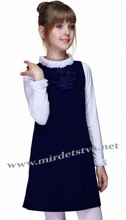 Школьное платье Lukas 4208 синее