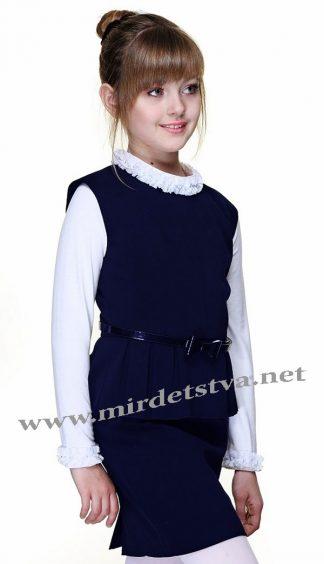 Школьный сарафан для девочки Lukas 4207 синее