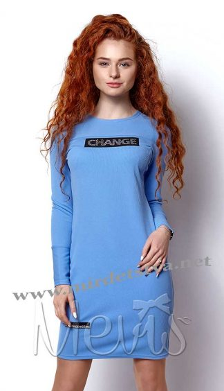 Туника для девочки Mevis 2421-04 голубого цвета