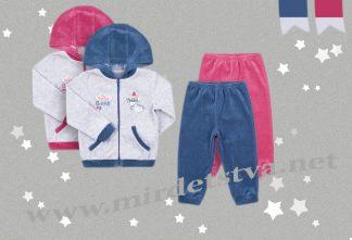 Велюровый костюм для малышей Бемби КС530