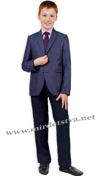 Синие брюки на мальчика Новая форма Mark 09.3.1 на подкладке