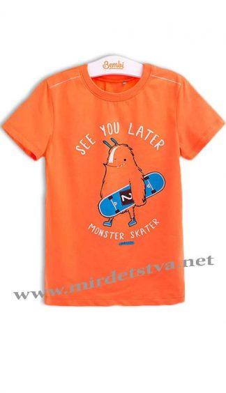 Футболка оранжевая для мальчика Бемби ФБ530