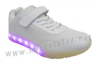 Кроссовки подростковые светящиеся GDO LD7274 Bianco