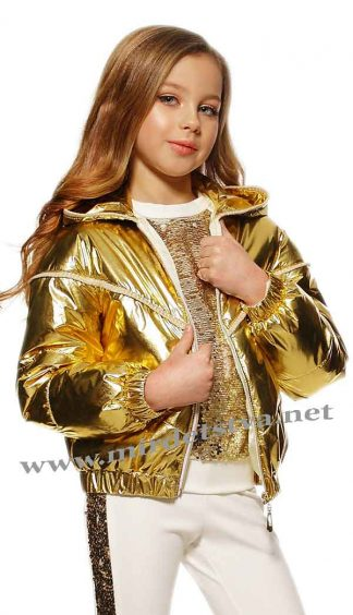 Куртка Lukas с люрексом золото 8130