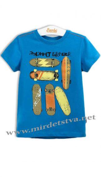 Летняя футболка для мальчика Бемби ФБ530 синяя