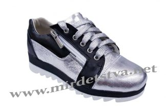 Серебристые кроссовки Tops Д-730-1Е