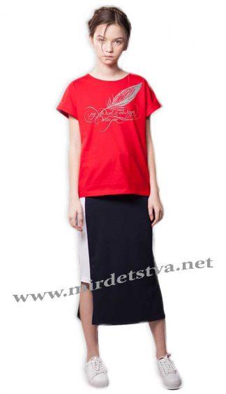 """Красная футболка Овен """"Селена"""" 18Ф1-224-1"""