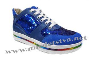 Кроссовки с пайетками Tops Д749-71 синие