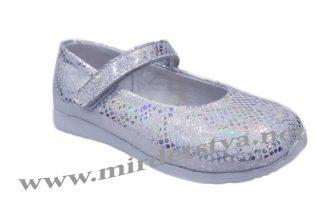 Нарядные туфли Tops Д525 бело-серебряные