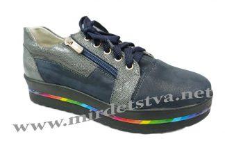 Подростковые кроссовки Tops Д730-71 серо-синие