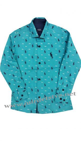 Рубашка бирюзовая 3554