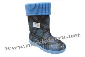 Сапоги резиновые AlisaLine Color301 Шотландка синяя