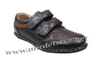 Кожаные туфли школьные на мальчика Kangfu C1085-3
