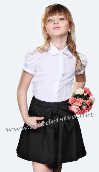 Белая блуза для девочки Lukas 1229 с коротким рукавом